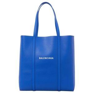 Balenciaga Small Everyday Logo Calfskin Blue
